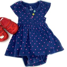 Carters Baby Girl Polka Dot One Piece Outfit Blue Pink Colorful Baby Siz... - $5.89