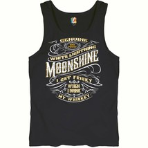 I Get Friskey When I Drink My Whiskey Tank Top Genuine Moonshine Men's Top - $12.47+