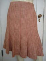 ANN TAYLOR PETITES Cotton/Wool Gored Tweed Skirt 12P NWOT Lined Flared C... - $44.55