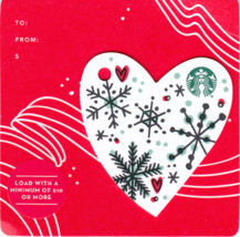 Starbucks 2017 Christmas Heart Mini Collectible Gift Card New No Value - $3.99