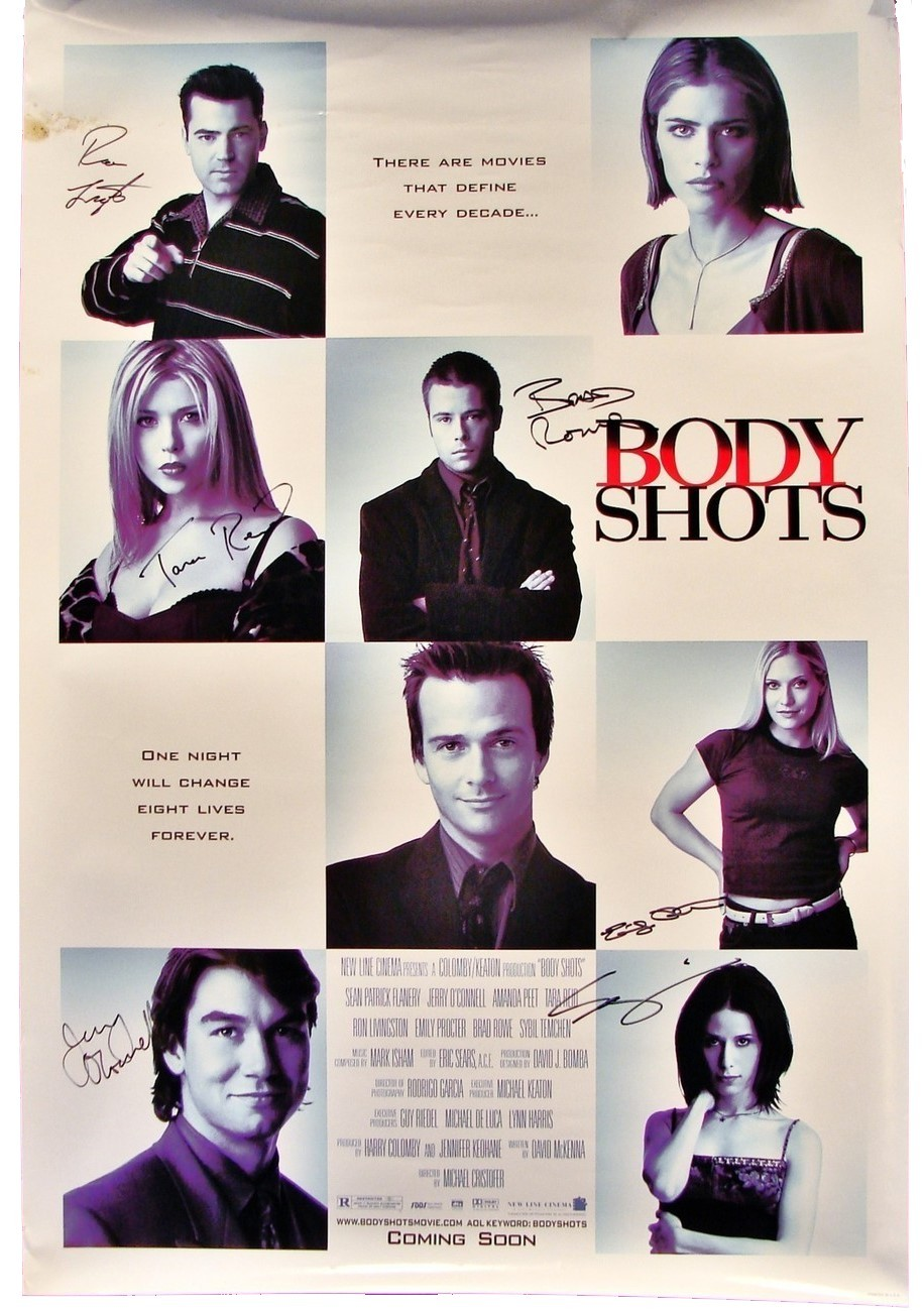 Body shots signed poster