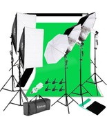 Kshioe 45W White Umbrellas Silver Black Umbrellas Soft Light Box Background - $170.27