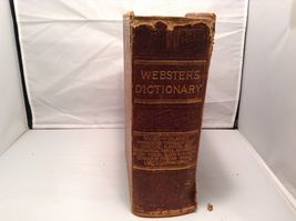 Antique Leather Bound Webster Dictionary  image 6