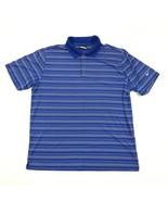 Nike Golf-Shirt Extragroß Blau Polo Kragen Trikot Performance Streifen - $20.55