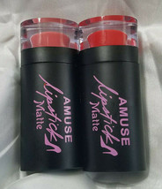 Amuse Matte Lip Stick Lot Of Two Assorted Shades - $10.88