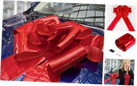 Giant Red Bow for Car - 23 Inches Large Red Car Bow with Magnets and Su... - $35.62