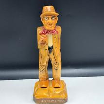 KREUZBERG RHON CARVED GERMANY WOOD FIGURINE statue black forest man hat ... - $148.50