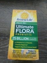 Renew Life Adult 50+ Probiotic, Ultimate Flora, 25 Billion, 30 Capsules ... - $12.62