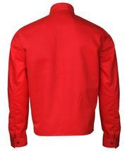 Elvis Presley Retro White Striped Speedway Steve Classic Red Cotton Jacket image 4