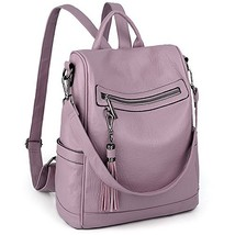 UTO Women Anti-Theft Backpack Purse PU Washed Leather Ladies Tassels (La... - $54.92