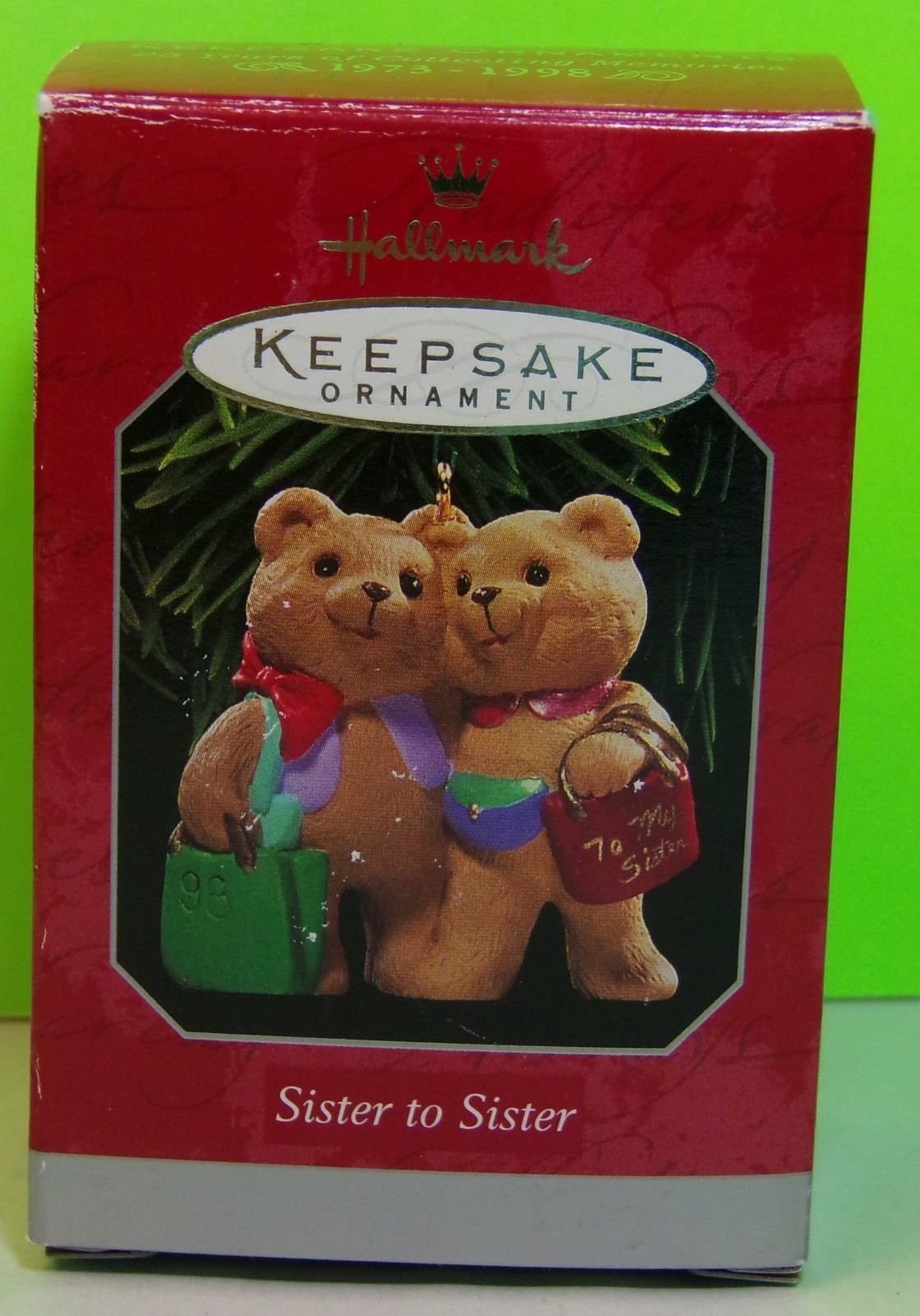 Primary image for Hallmark Keepsake Ornament 1998 SISTER TO SISTER By Sharon Pike Collectible