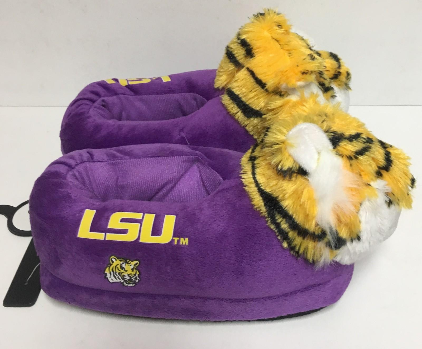 LSU Louisiana State University Women'a Slippers Many Sizes Purple Tigers image 7