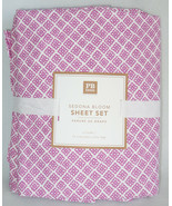 Pottery Barn Teen Sedona Bloom Sheet Set Twin XL Orchid Pink Floral New - $66.93