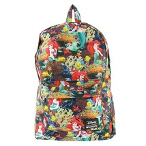 Loungefly Little Mermaid Floral Backpack (Black/Multi) - $57.96 CAD