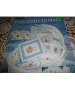 With Baby In Mind Cross Stitch Chart~Leisure Arts Leaflet 853 - $5.00