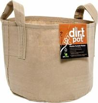 Hydrofarm 25 Gallon Tan Flexible Dirt Pot Portable Fabric Planter With H... - $32.33