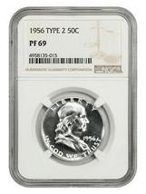 1956 Type 2 50c NGC PR 69 - Gorgeous Ultra Gem - Franklin Half Dollar - $509.25