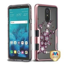 Spring Flower Diamante TUFF Panoview Hybrid Cover for LG Stylo 4 Plus/St... - $13.39
