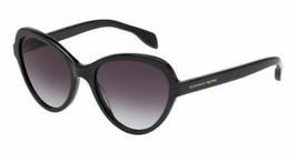 Neu Alexander Mcqueen Sonnenbrille Schwarz AM0029s 001 51MM Cat Eye Damen - $158.38