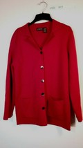 Liz Cailborne Women's Knit Button Up Cardigan Sweater Merino Wool Blend ... - $22.00