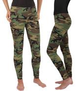 Women's Camo Full Length Stretch Pants Leggings Spandex Yoga Active Army... - $13.99