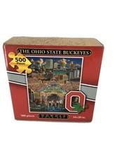 DOWDLE Folk Art The OHIO STATE BUCKEYES 500 Piece Football Stadium Puzzle  - $14.01