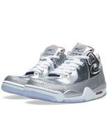 NEW Nike Flight Squad QS Metallic Silver White Men's Size 8 679260-002 - $247.49