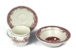 Johnson Brothers Twas The Night 3 Pieces Saucer Cup Cereal Bowl - $50.48