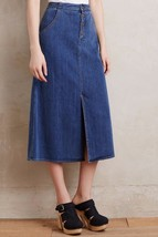NWT ANTHROPOLOGIE RANGE DENIM SKIRT by HOLDING HORSES 2 - $52.37