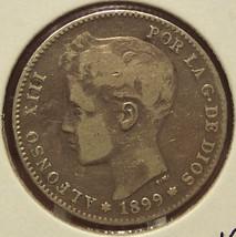 KM#706 1899 Spanish Silver Una Peseta #0206 - $14.99
