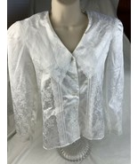 Vtg  Gunne Sax Blouse White Lace shirt top Sz 5 Polyester - $60.76