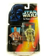 Kenner Star Wars Power Of The Force C-3PO Japanese THX Red Card Rare Pot... - $43.53