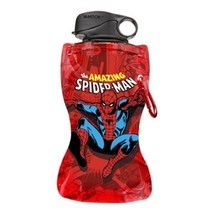 The Amazing Spider-Man Under Name 12 oz Collapsible Water Bottle NEW UNUSED - $4.99