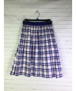 NEW Her Universe Doctor Who Plaid Skirt Tardis Blue White Women's Junior... - $29.70