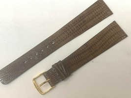 Euro genuine Teju lizard 20mm Long by 15mm watch band Brown USA - $33.59
