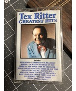 Vintage 1990 TEX RITTER Greatest Hits Cassette Tape Audio Country Music~... - $6.00