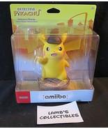 "Detective Pikachu 5"" amiibo video game figure accessory Nintendo toy - $69.96"