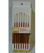 *NEW* HAND MADE MODERN 7ct Small Paint Brush Set  - $9.78