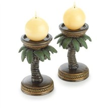 Coconut or Palm Tree Candle Holder 2PC - £10.33 GBP