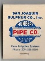 Vtg Strike on Matchbook  ~ San Joaquin Sulphur Co. ~ Lodi, Ca ~ Valor Pr... - $9.89