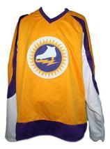Custom Name # New York Golden Blades Retro Hockey Jersey Yellow Any Size image 3