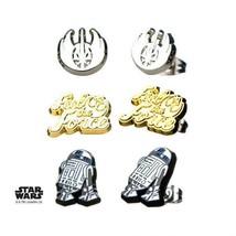 Disney Star Wars Episode 8 Jedi Steel Post Stud Earrings Set - £20.13 GBP