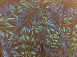 Studio I Black Sleeveless Dress w Blue/Teal Foliage Pattern Sz 18 image 6