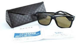Auth Gucci GG1149/S Y6CNO 55-17145  Black Frame W/ Brown Sunglass Italy ... - $276.21