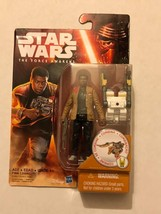 "Action Figure Star Wars Force Awakens Finn 4"" On Card Hasbro 2016 - $1.98"