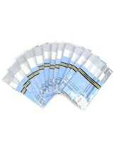 Men's White 30% Cotton and 70% Polyester 3 PCS Handkerchiefs - $11.99