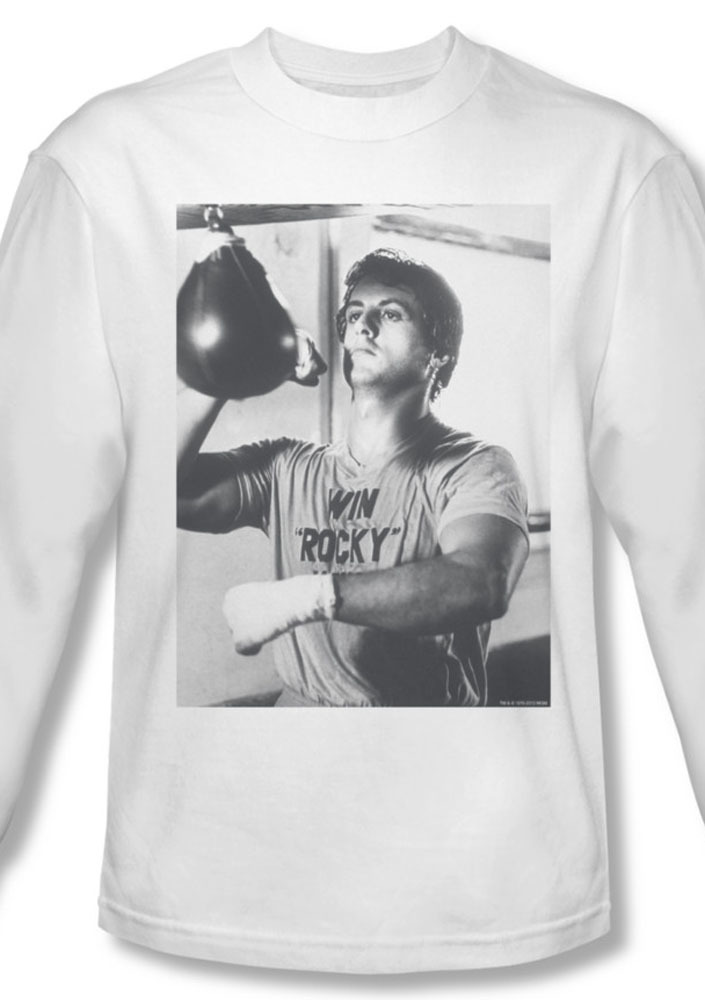 Rocky ii win rocky win long sleeve stallone balboa for sale white graphic tee mgm225 al