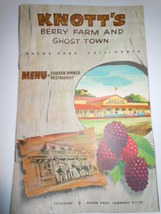 Vintage Knott's Berry Farm and Ghost Town Menu Booklet 1960's - $5.99