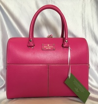 Kate Spade Wellesley Large Purse Briefcase Kingston Tech Bag Leather Pink ~ NWT - $365.00
