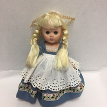 Vogue Doll Ginny in Dutch Girl Outfit Blue Dress Blonde Braids Vintage - $59.39